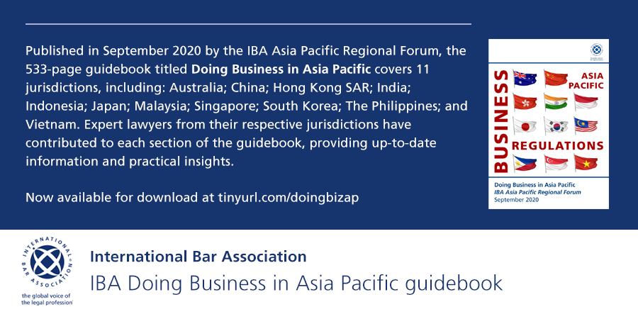 International Bar Association - Business in Asia-Pacific Region - Guidebook