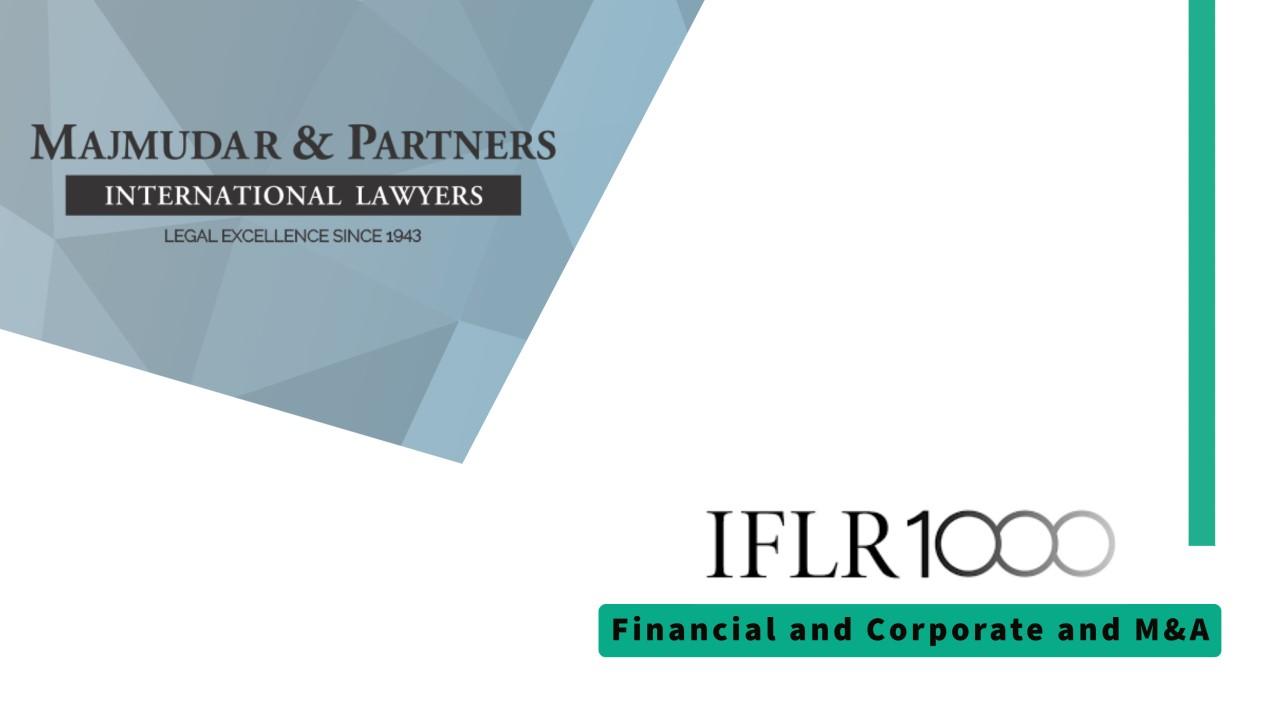 Majmudar & Partners - IFLR1000 2021 rankings.