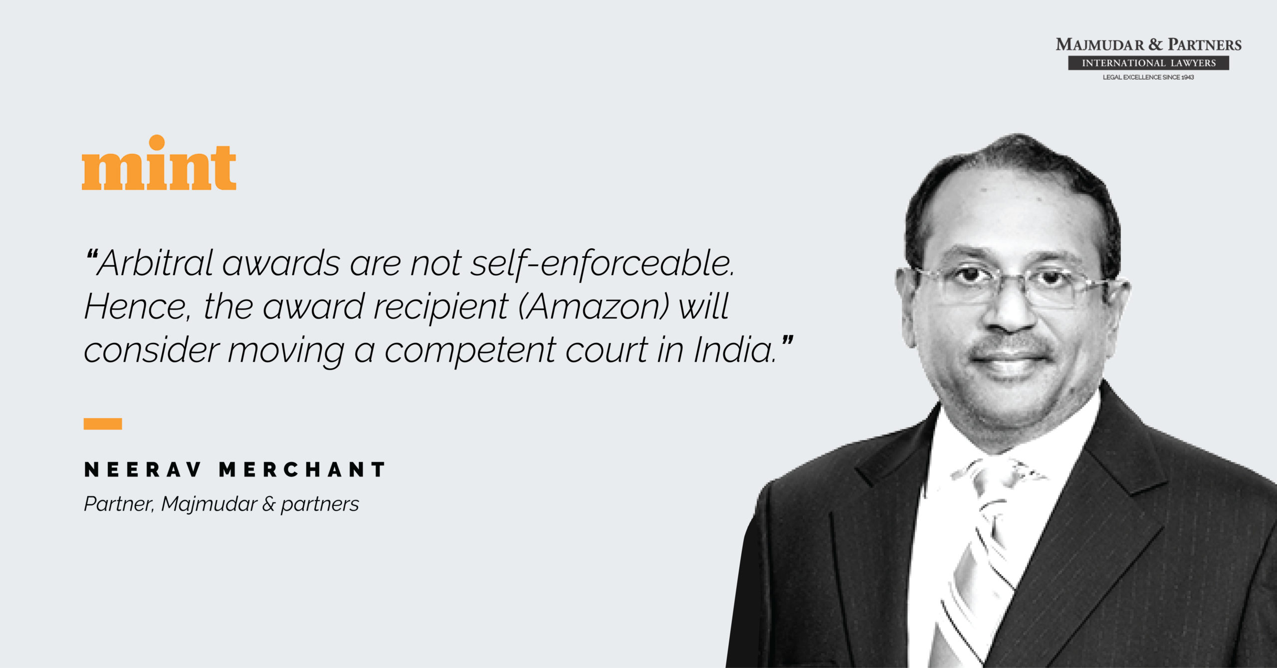 Neerav Merchant's views on Mukesh Ambani's RIL filing a countersuit against Silicon Valley Giant, Amazon for blocking RIL's bid for Assets of Future Group